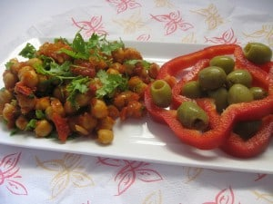 Chickpea Stew on Appetizer Tray