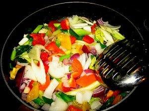 stir-fry-vegetables tuna