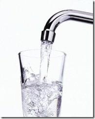 water in faucet