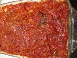 fresh home-made lasagna