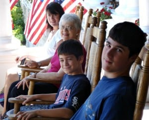 Emily Segal, her husband and two sons.