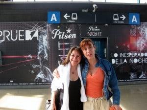 Friends at Medellin metro station
